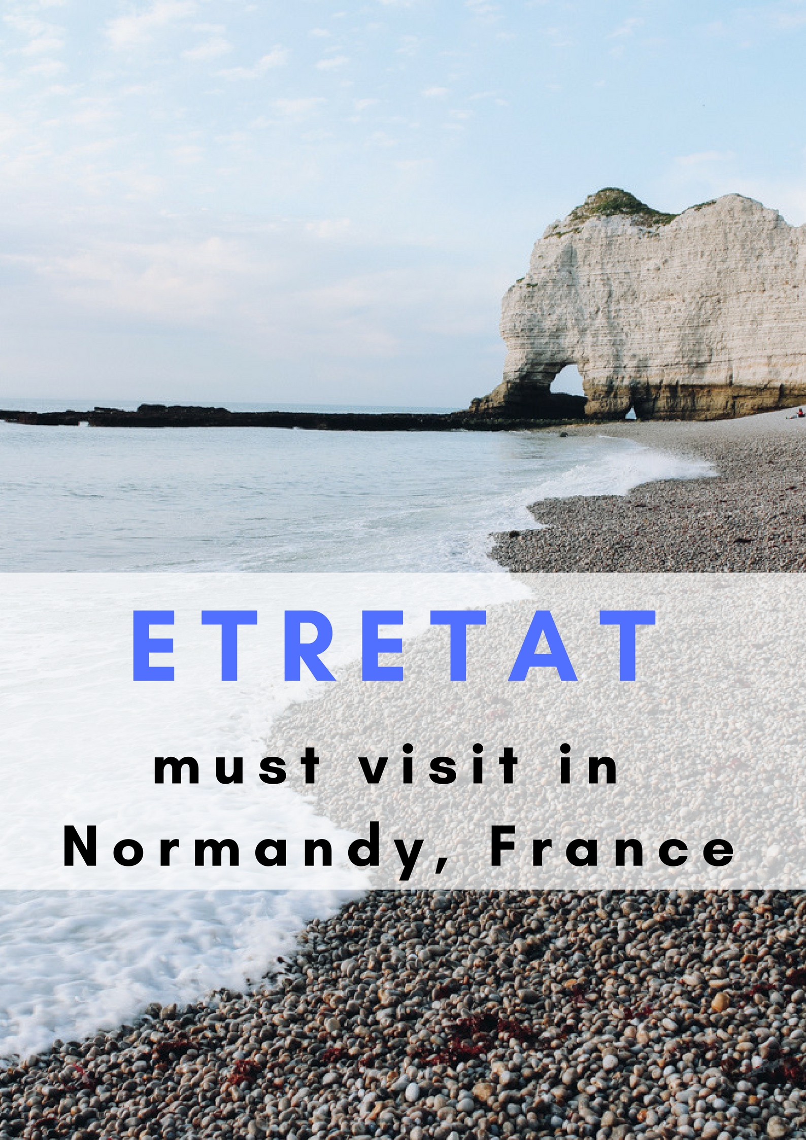 Must visit in Normandy, France: the cliffs of Etretat - Map of Joy
