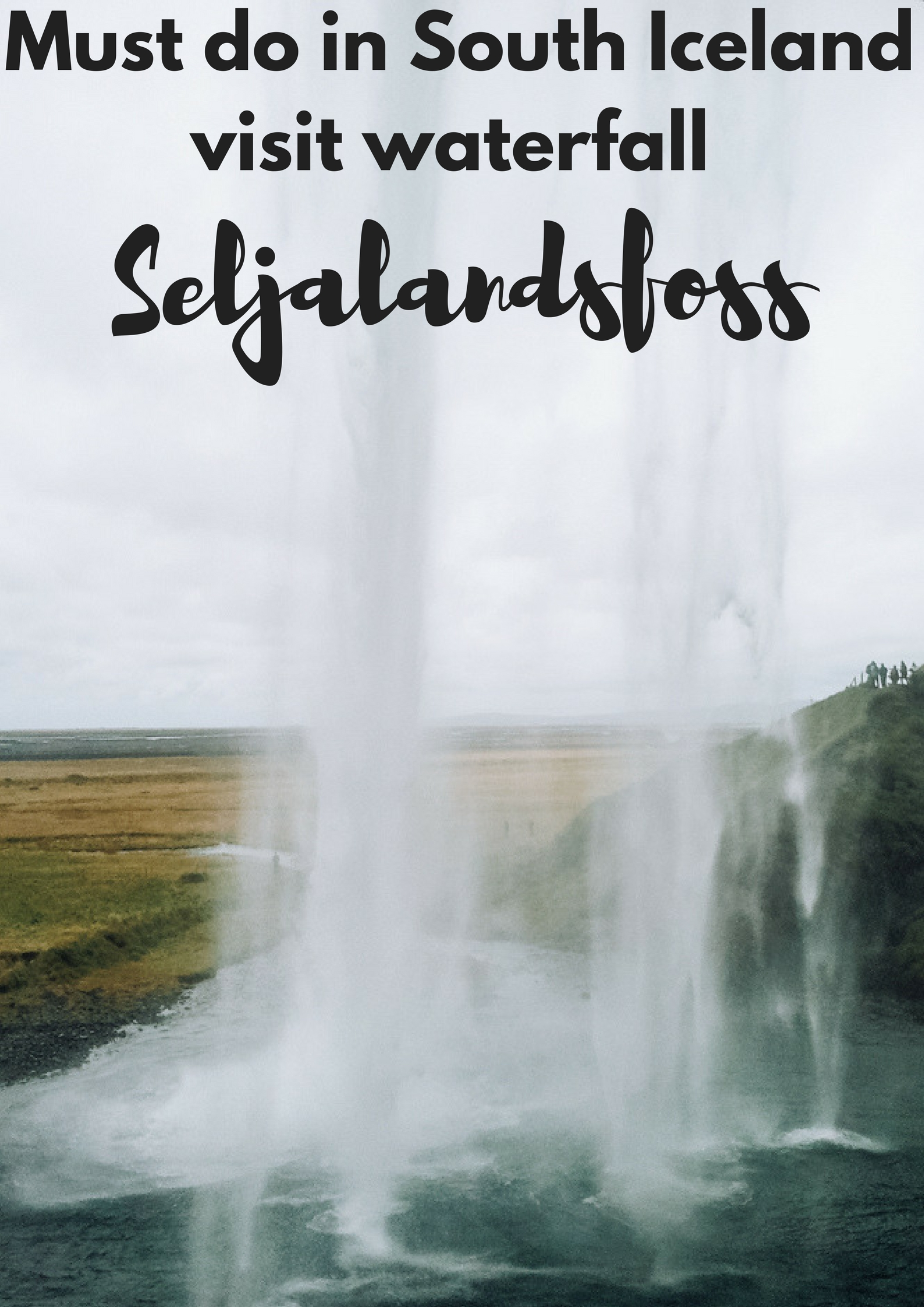 Must do in South Iceland: visit waterfall Seljalandsfoss - Map of Joy