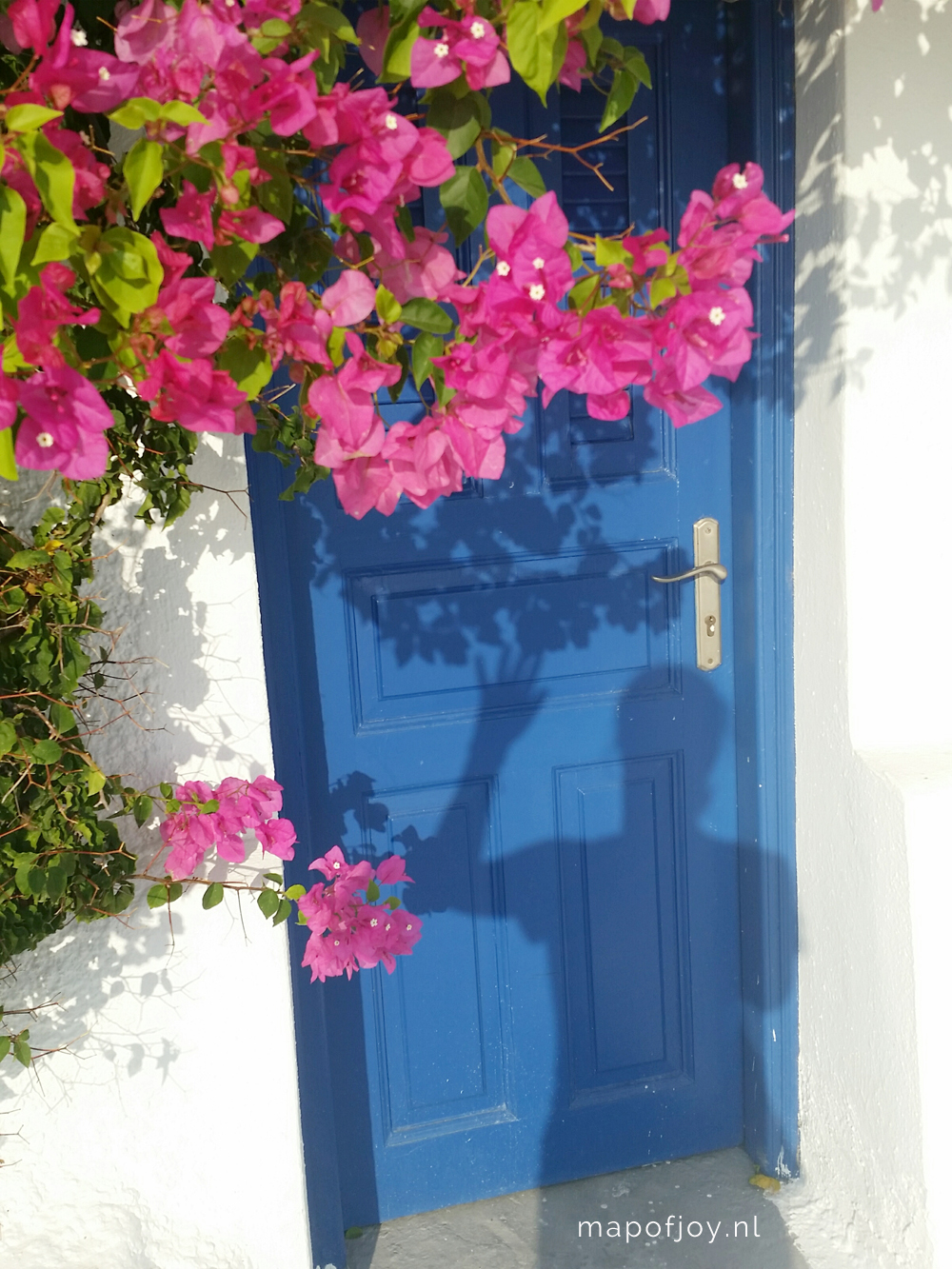 Santorini Greece, bougainville - Map of Joy