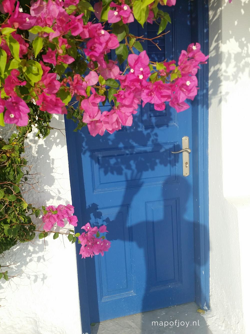 Santorini Greece, bougainville - Map of Joy