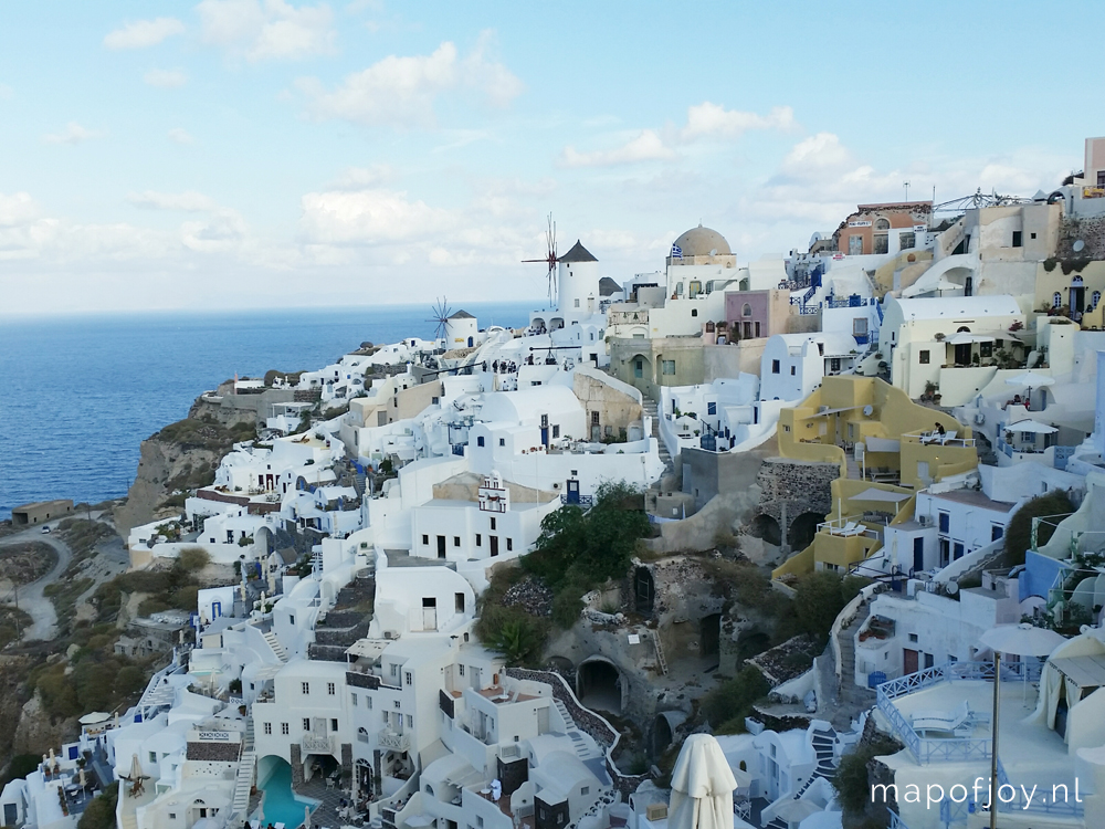 Santorini Greece, Oia - Map of Joy
