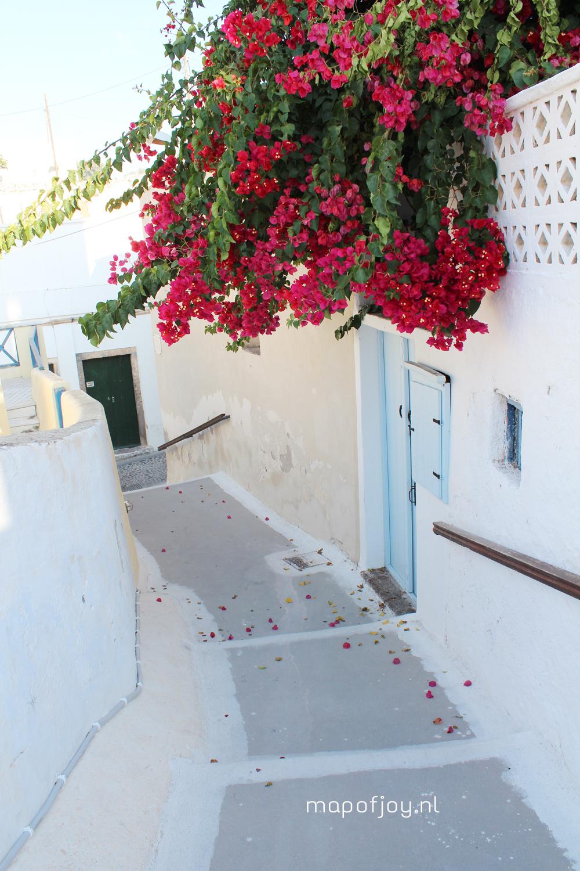 Santorini Greece, Megalochori - Map of Joy