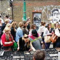 5x markten op zondag in Shoreditch, Londen
