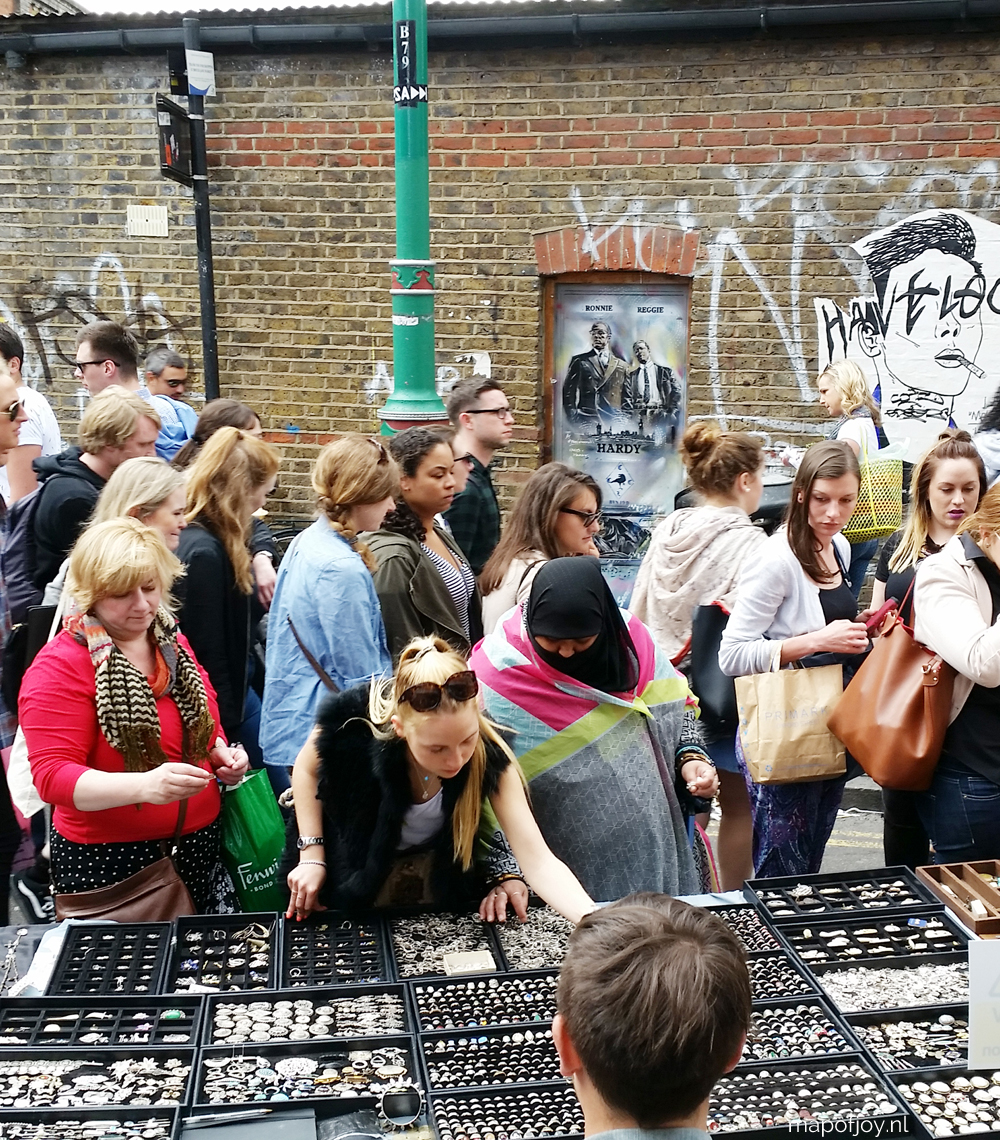 Brick Lane market, London - Map of Joy