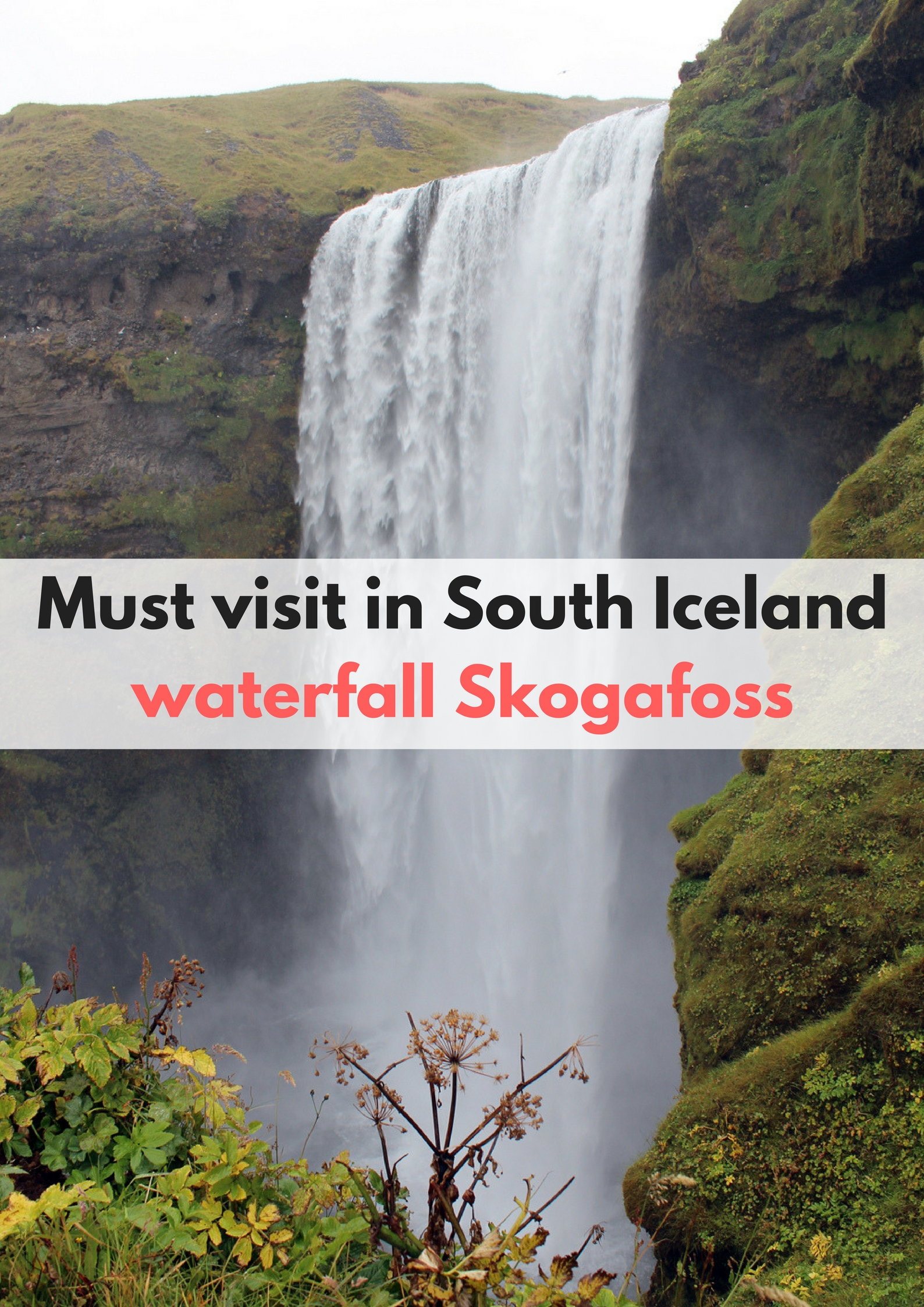 Must visit in South Iceland, waterfall Skogafoss - Map of Joy