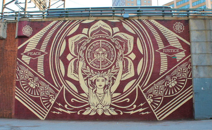 Lotus Woman mural, Dumbo hotspot New York - Map of Joy