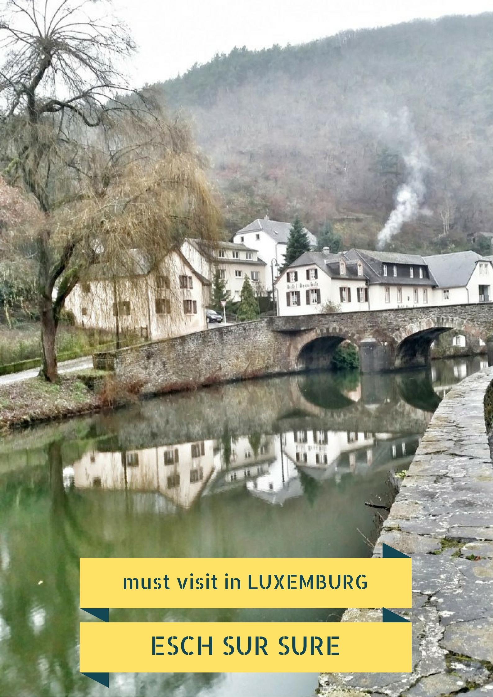 Must visit in Luxemburg: Esch Sur Sure - Map of Joy