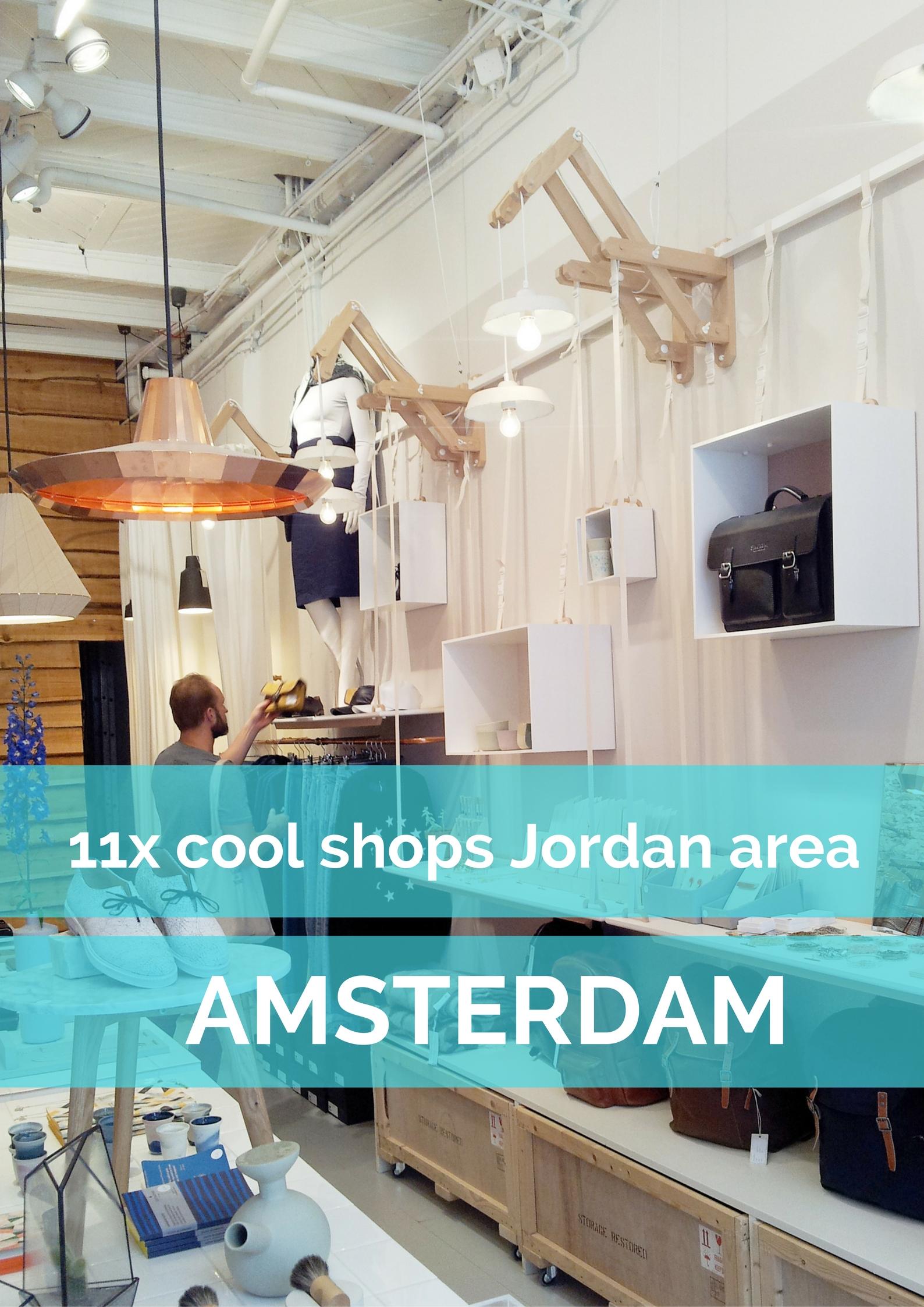 11x cool shops Jordan area, Amsterdam - Map of Joy