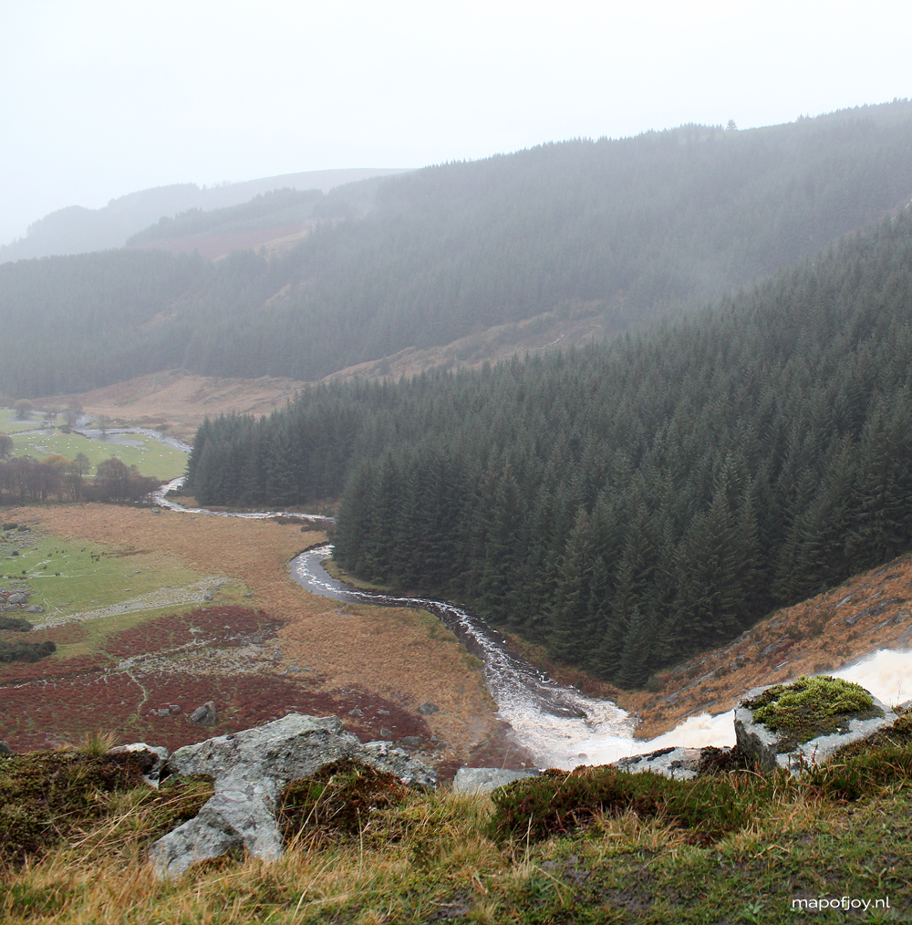 Glenmacnass waterfal, Ireland - Map of Joy
