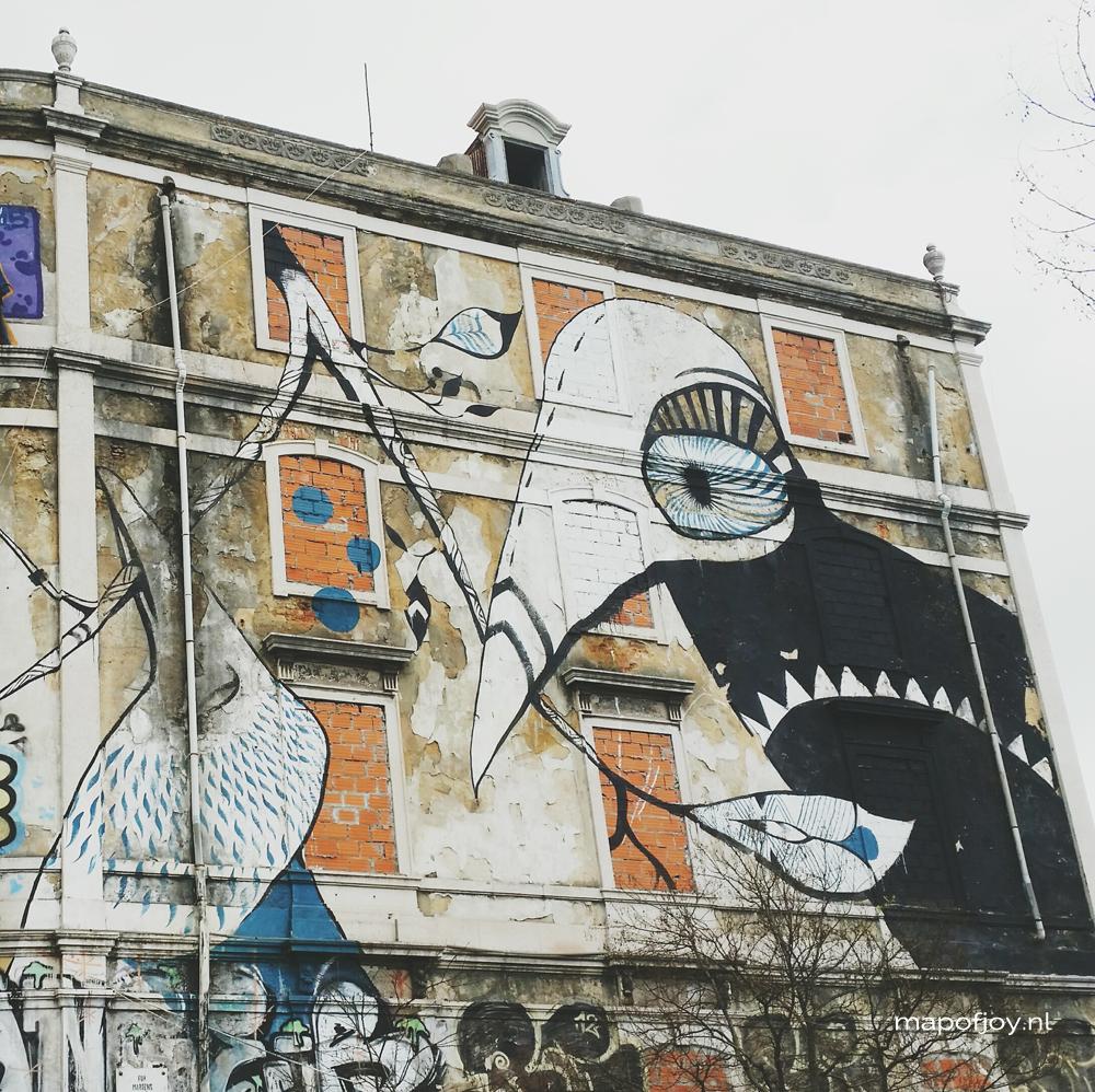 Crono Project, street art Lisbon- Map of Joy