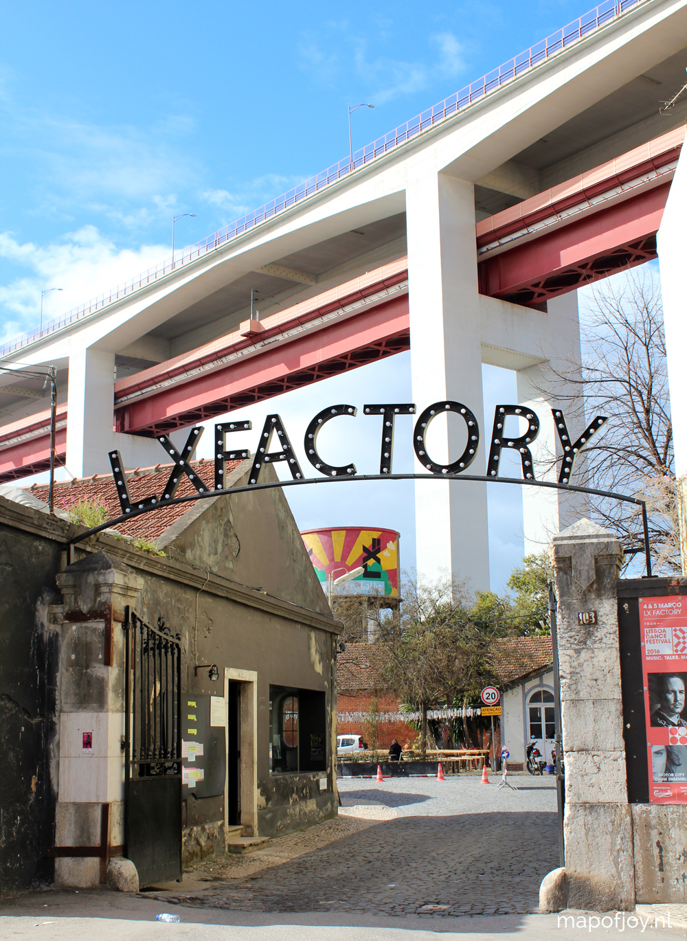 LX Factory, hotspot, Lisbob, Portugal - Map of Joy
