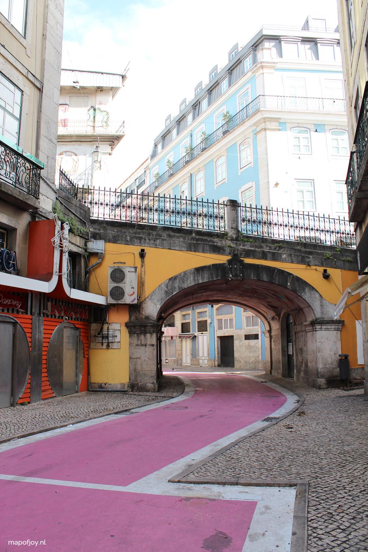 "Rua Nova do Carvalho ""The Pink Street"", Lisbon - Map of Joy"
