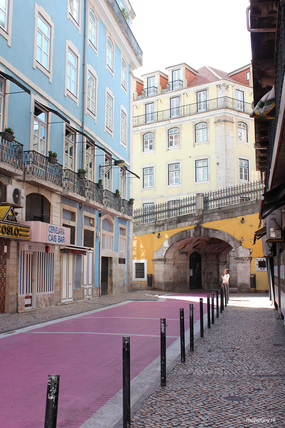 "Rua Nova do Carvalho ""The Pink Street"", Lisbon - Map of Joy"