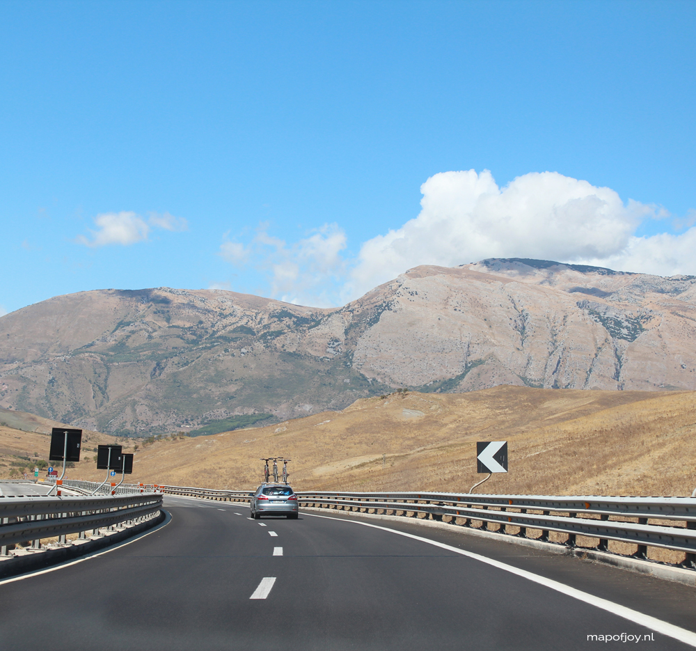 Road trip Sicily, Italy - Map of Joy