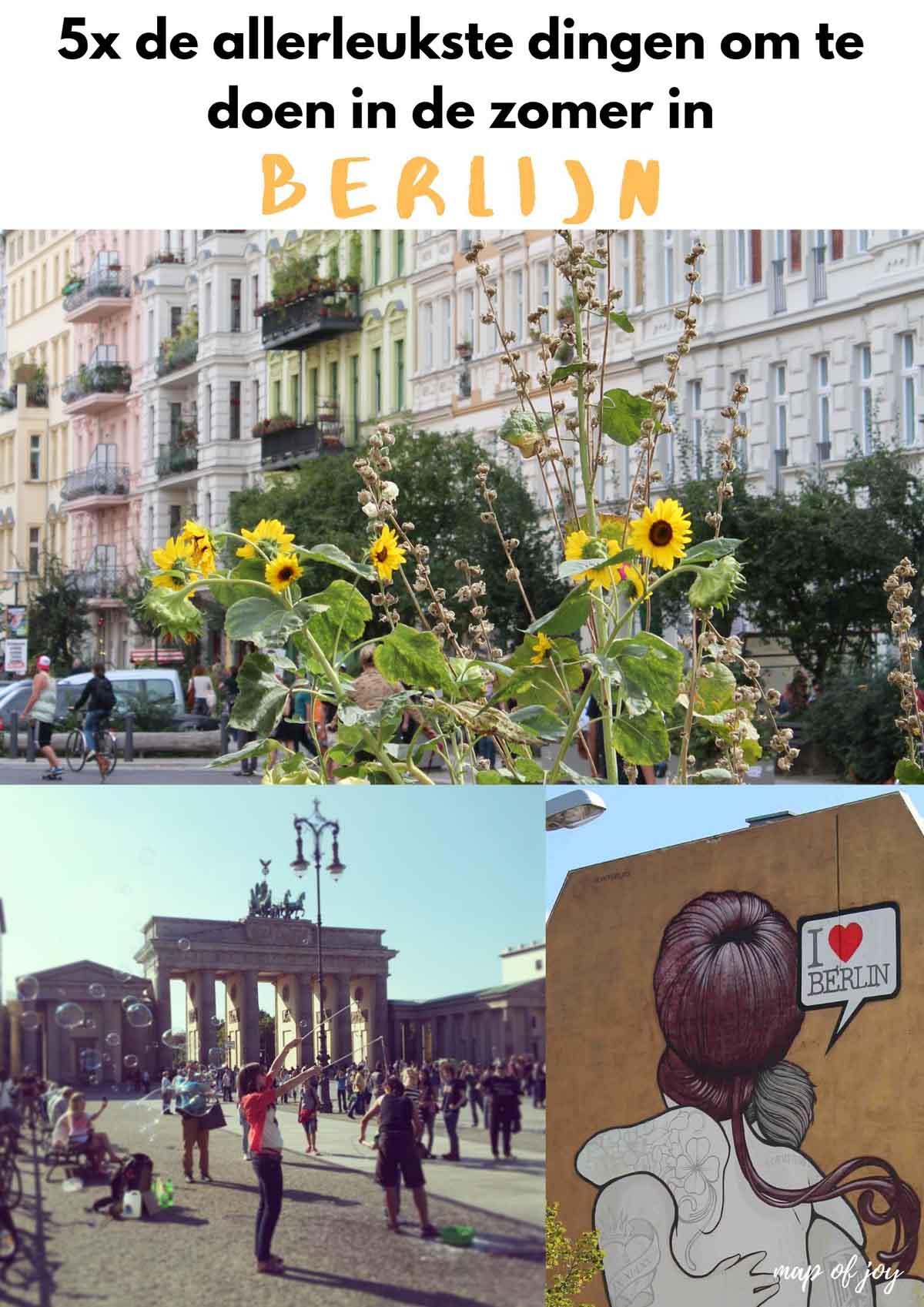 5x de allerleukste dingen om te doen in zomers Berlijn - Map of Joy