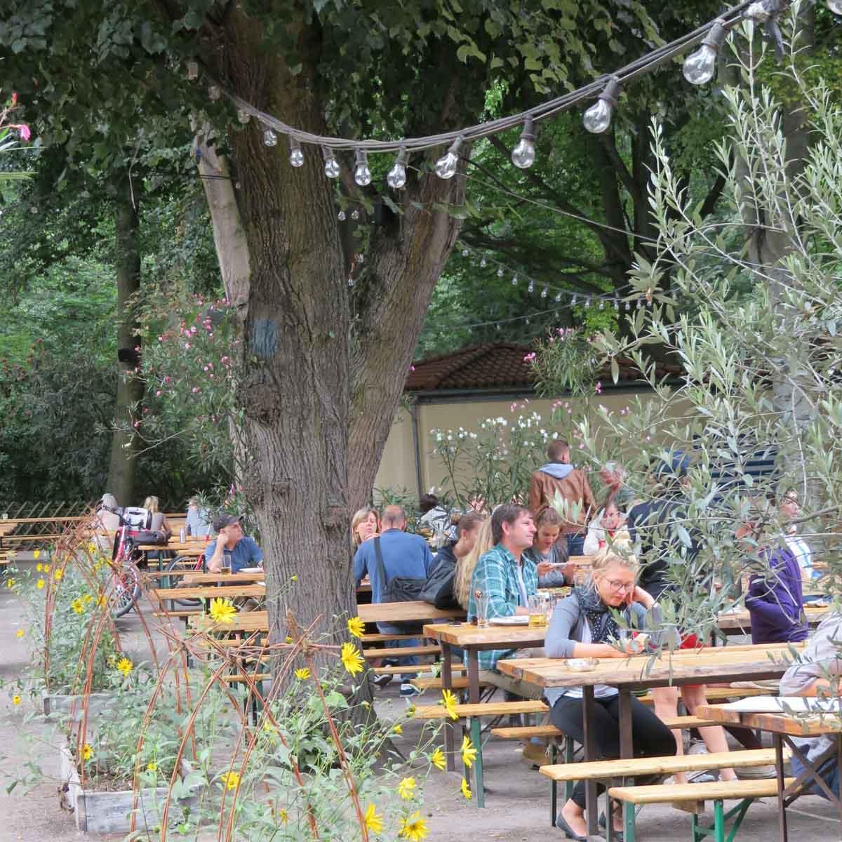 Cafe am neuen See, Berlijn in de zomer