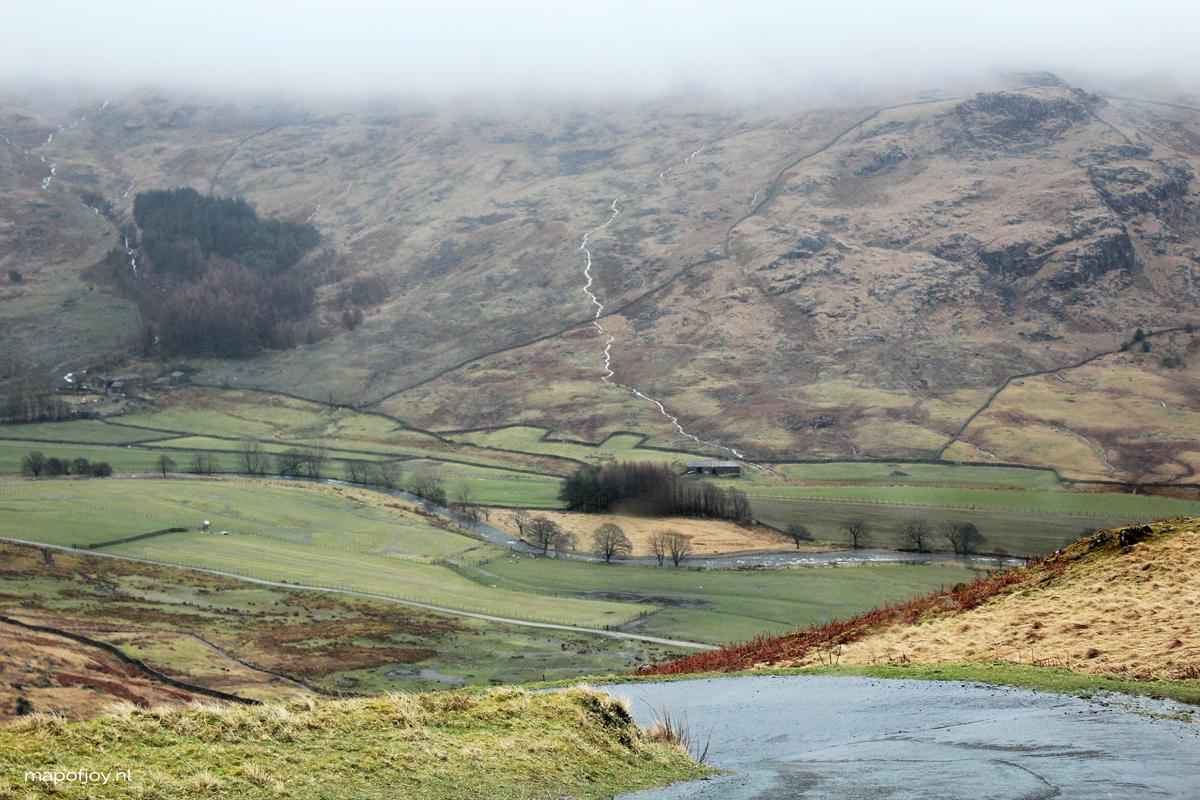Hardknott Pass, Lake District, England, road trip - Map of Joy
