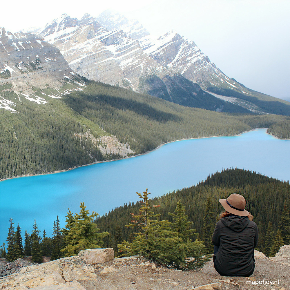 Lake Peyto, Alberta, Canada - Map of Joy