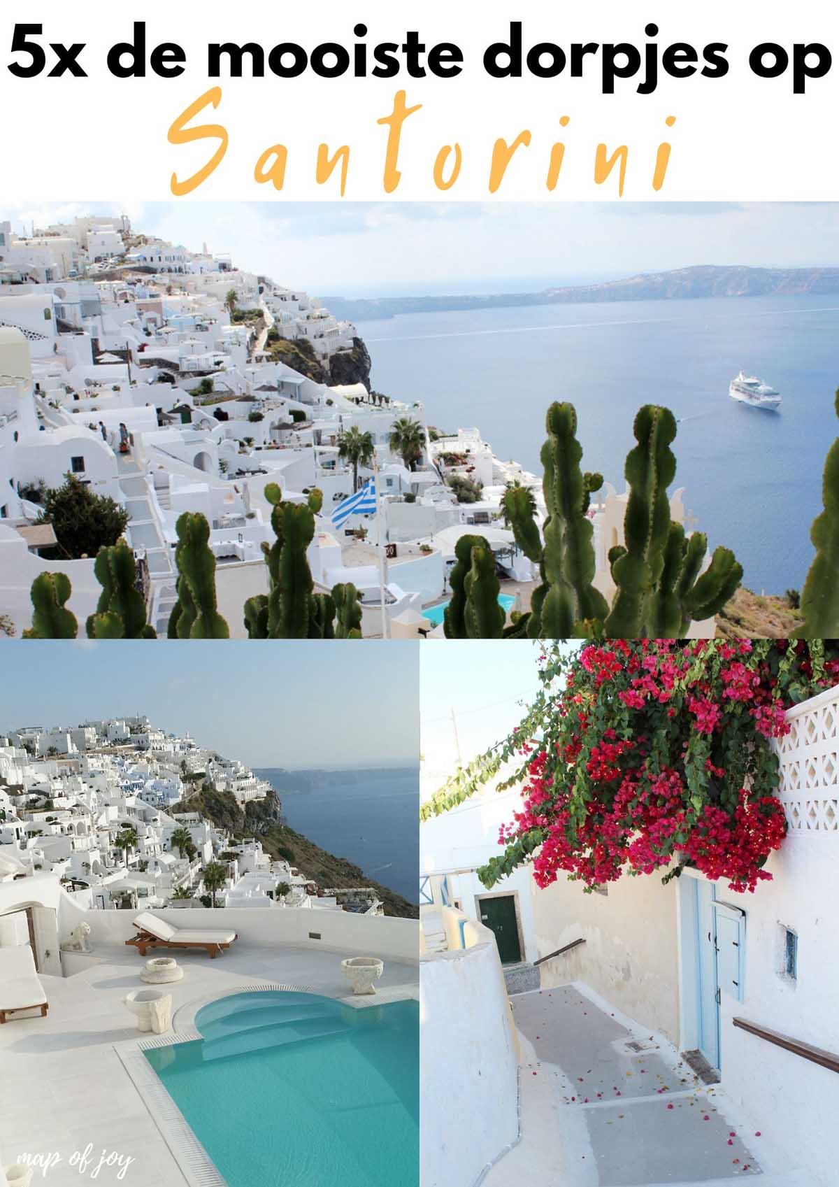 5x mooiste dorpjes Santorini - Map of Joy