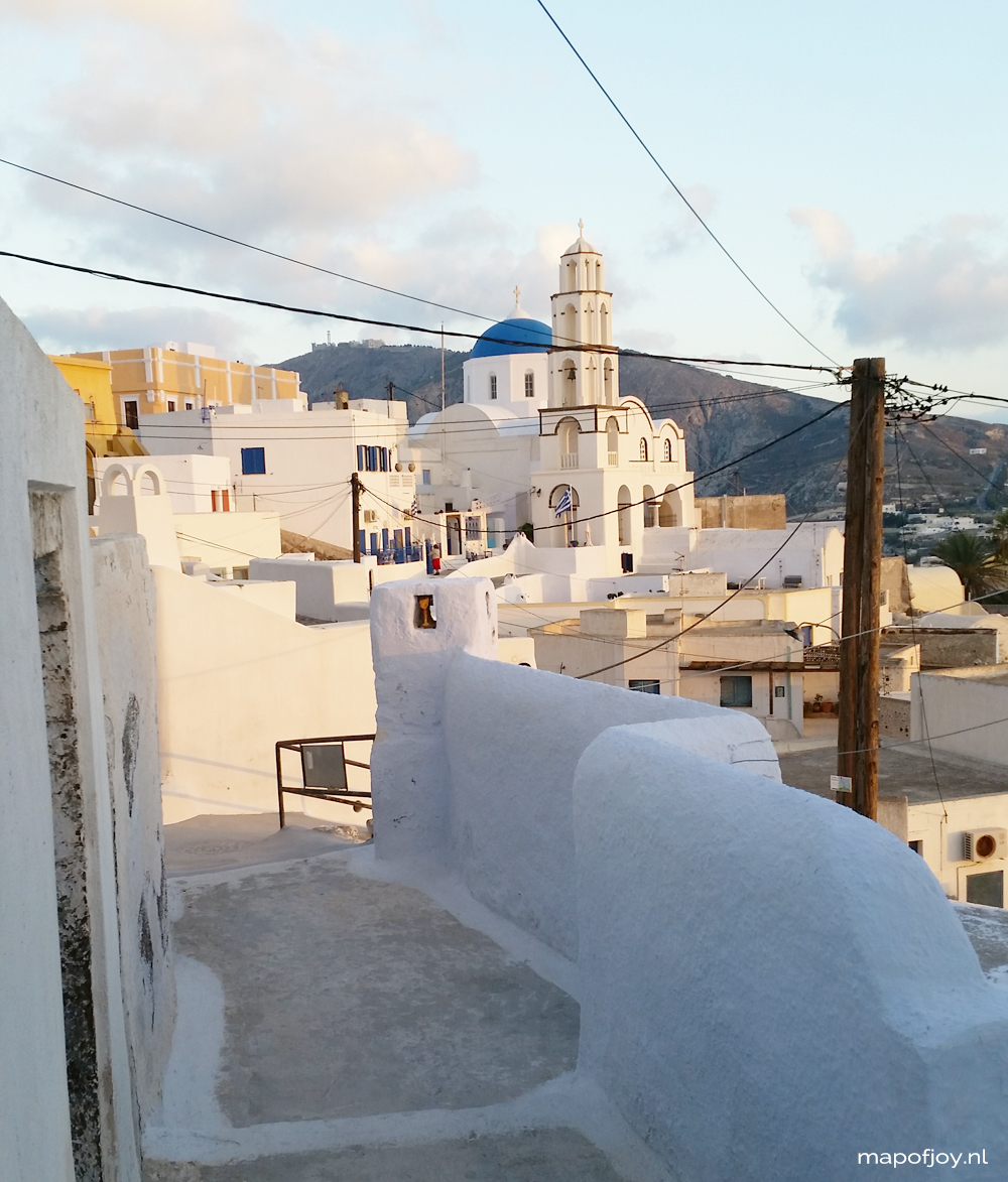 Pyrgos, Santorini, Greece, travel, world - Map of Joy