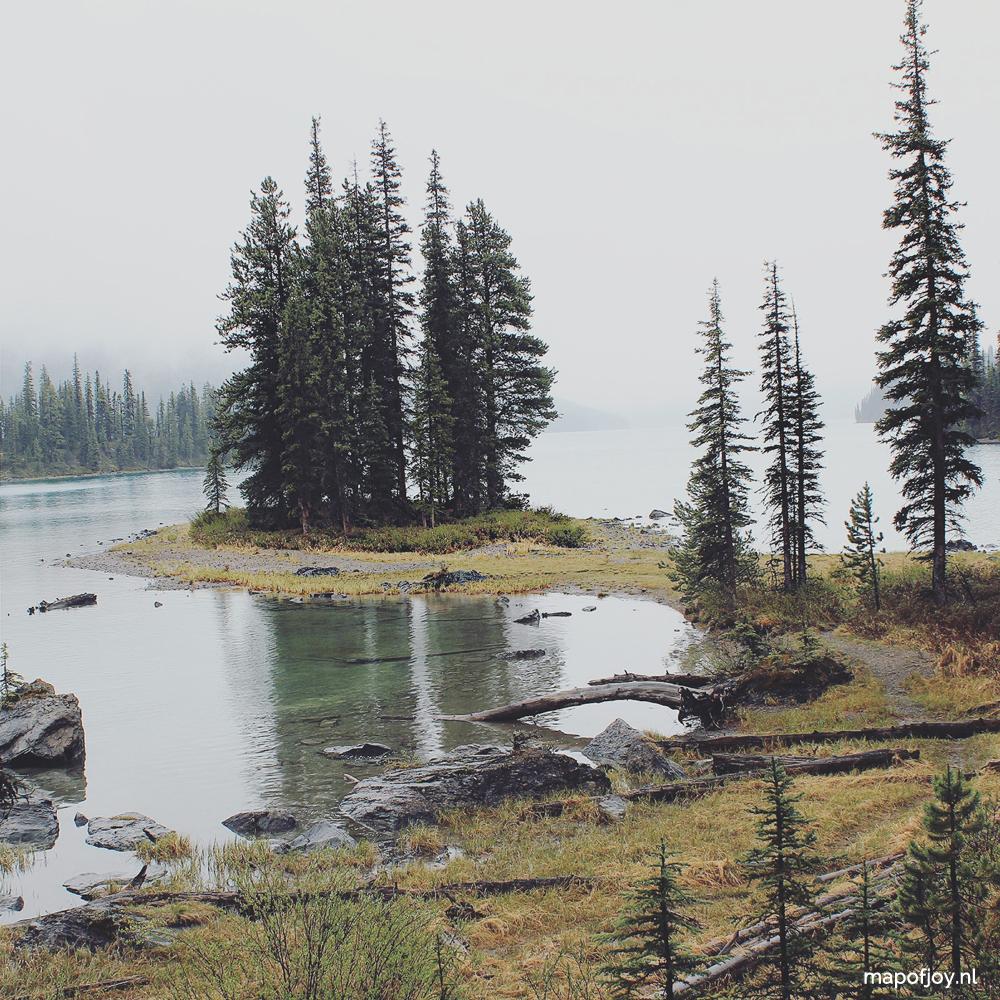 Spirit Island, Lake Maligne, Alberta, Canada - Map of Joy