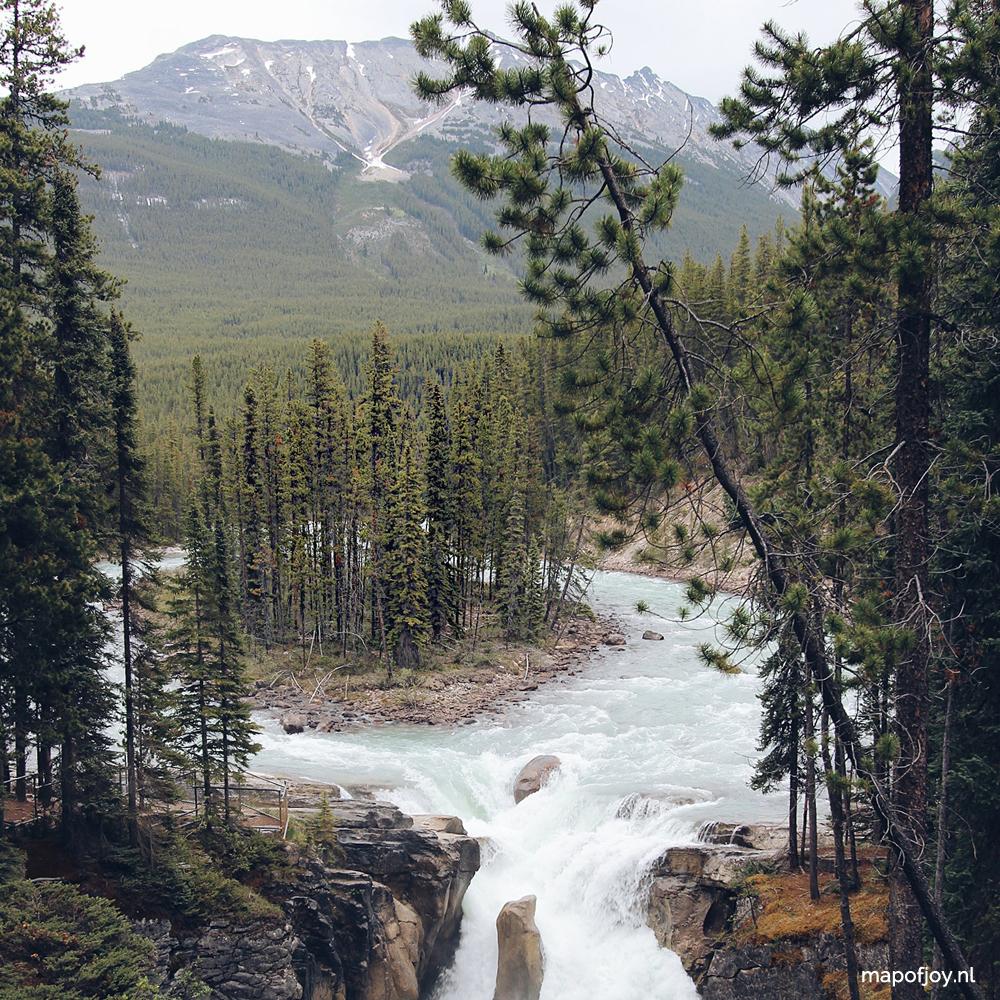 Sunwapta Falls, Jasper National Park, Alberta, Canada - Map of Joy