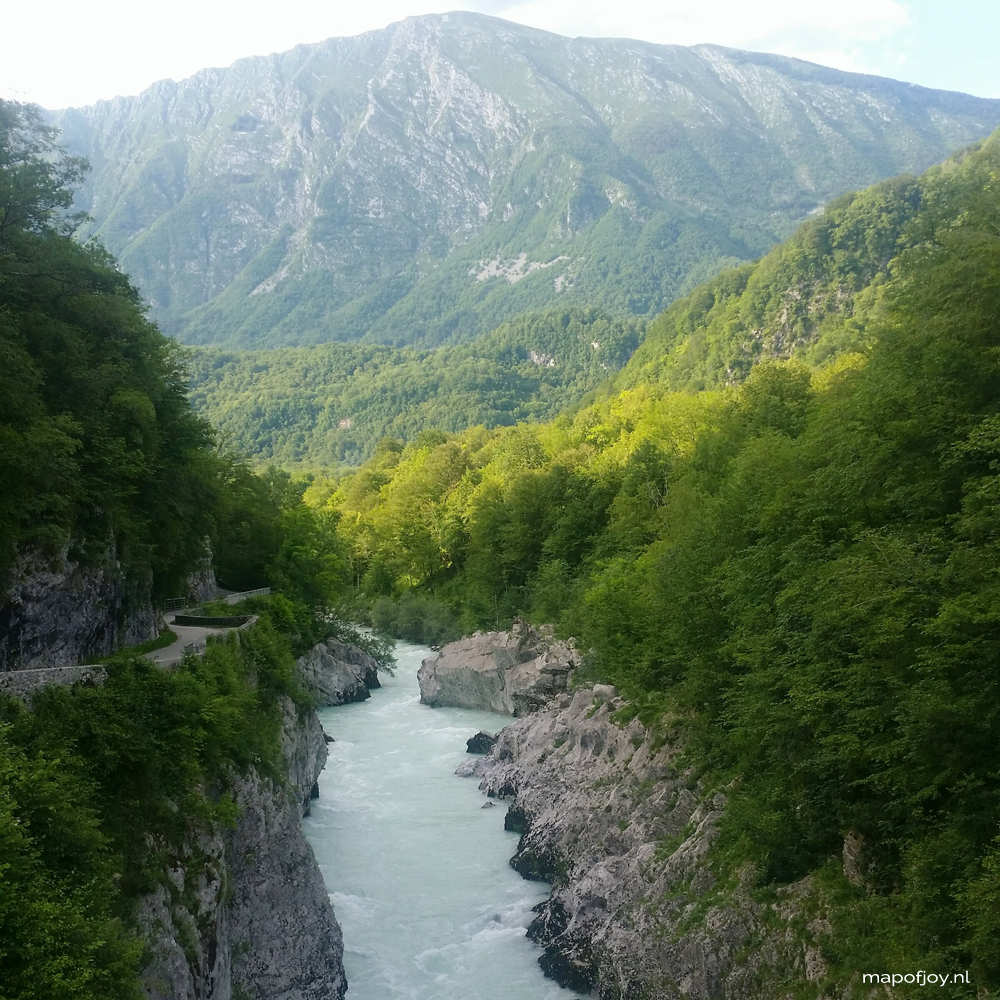 Slovenia Soca River - Map of Joy