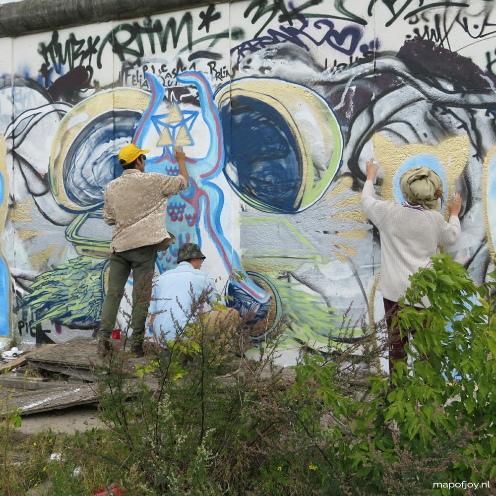 East Side Gallery, Berlin, street art - Map of Joy