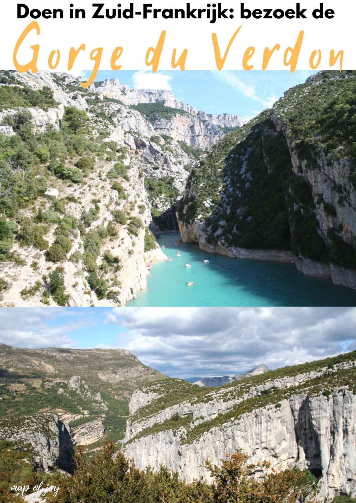 Doen in Zuid-Frankrijk: bewonder Gorge du Verdon - Map of Joy