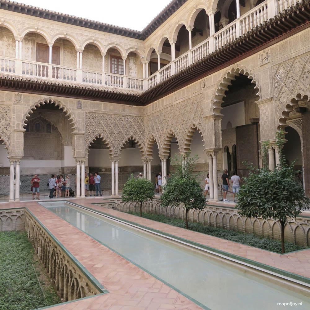 Sevilla, Real Alcazar - Map of Joy