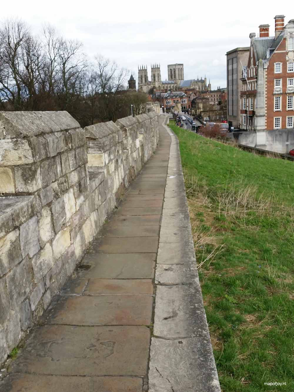 York, city walls - Map of Joy