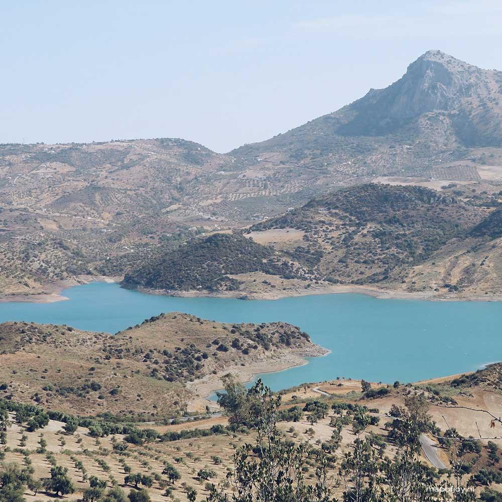 Zahara de la Sierra, lake, Andalusia, Spain - Map of Joy