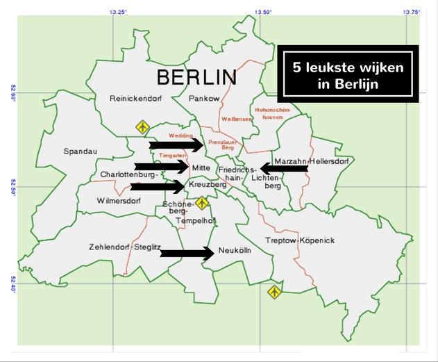 5x de leukste wijken van Berlijn - Map of Joy