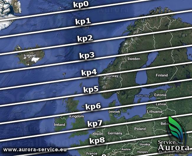 Kp-index Noorderlicht, beste plekken om het Noorderlicht te zien