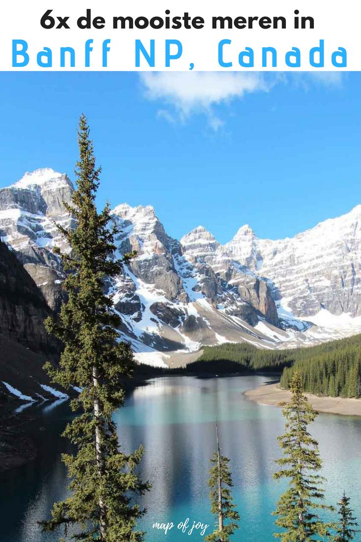 6x de mooiste meren in Banff NP, Canada - Map of Joy
