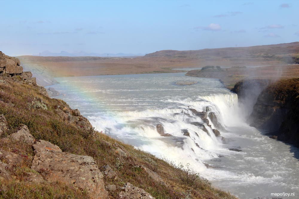 Gullfoss waterval, IJsland - Map of Joy