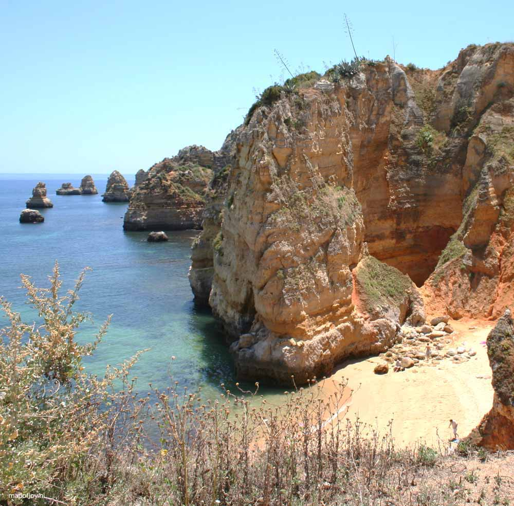 Strand Praia Dona Ana Algarve, Portugal - Map of Joy