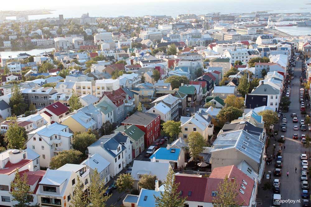 Reykjavik van bovenaf gezien - Map of Joy