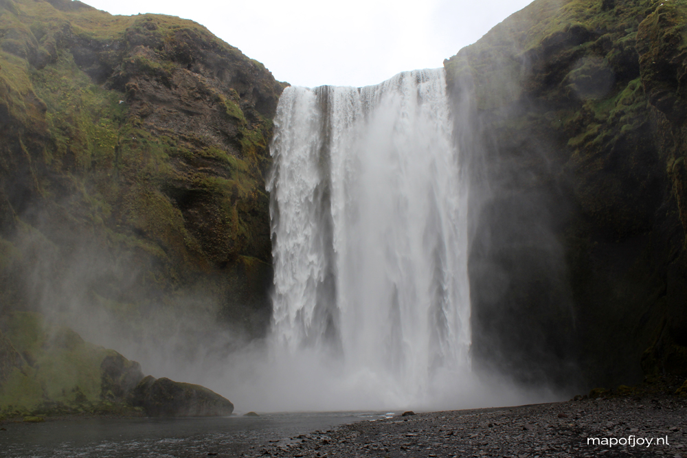 Skogafoss waterval, Ijsland - Map of Joy