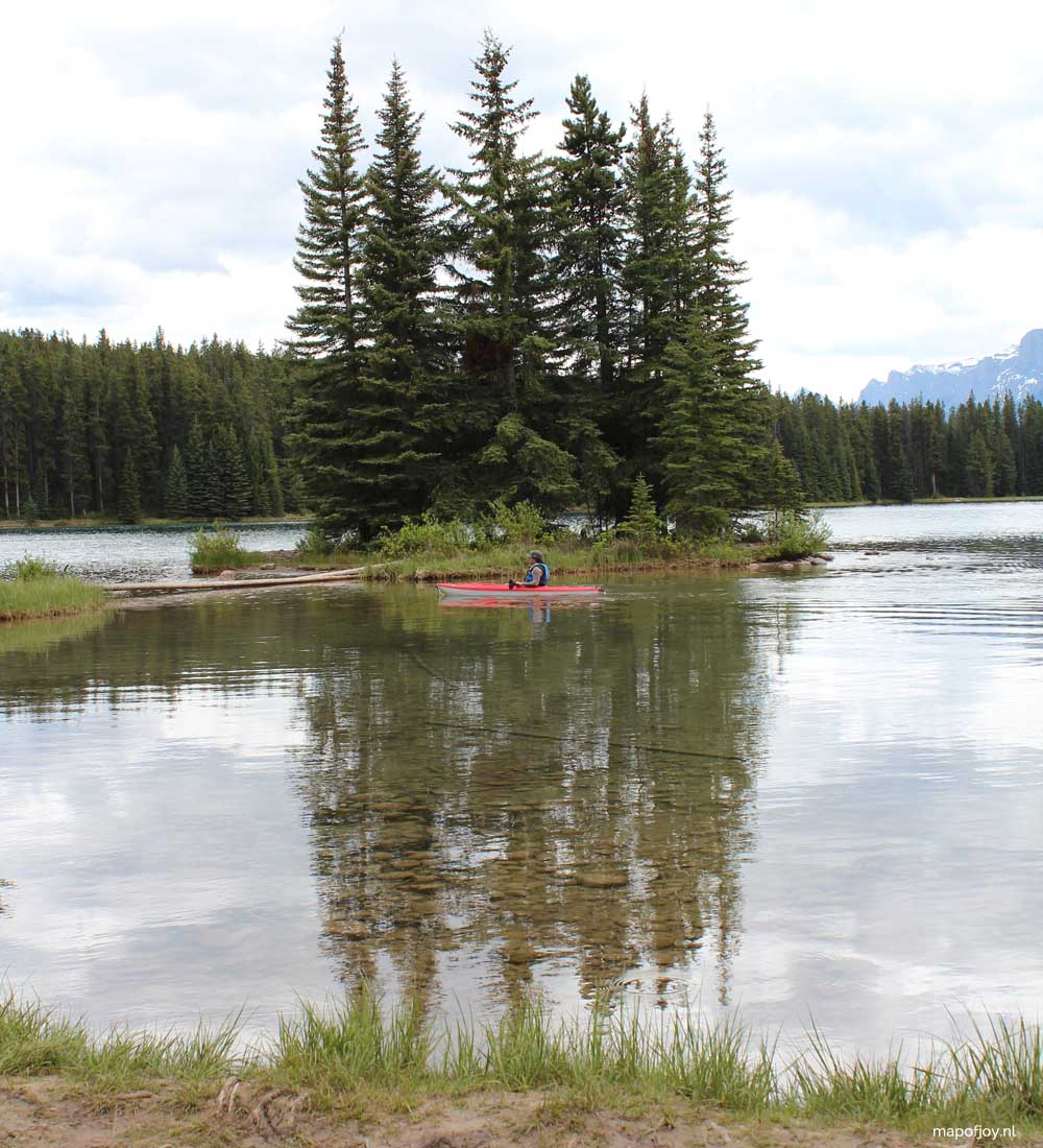 Two Jack Lake, Alberta, Canada - Map of Joy