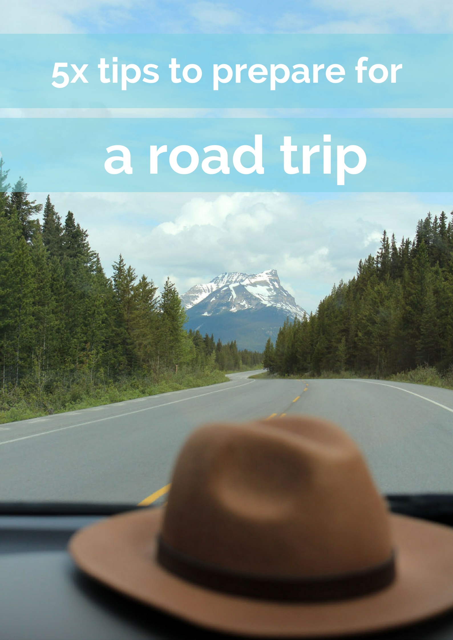 5x tips to prepare for a road trip - Map of Joy