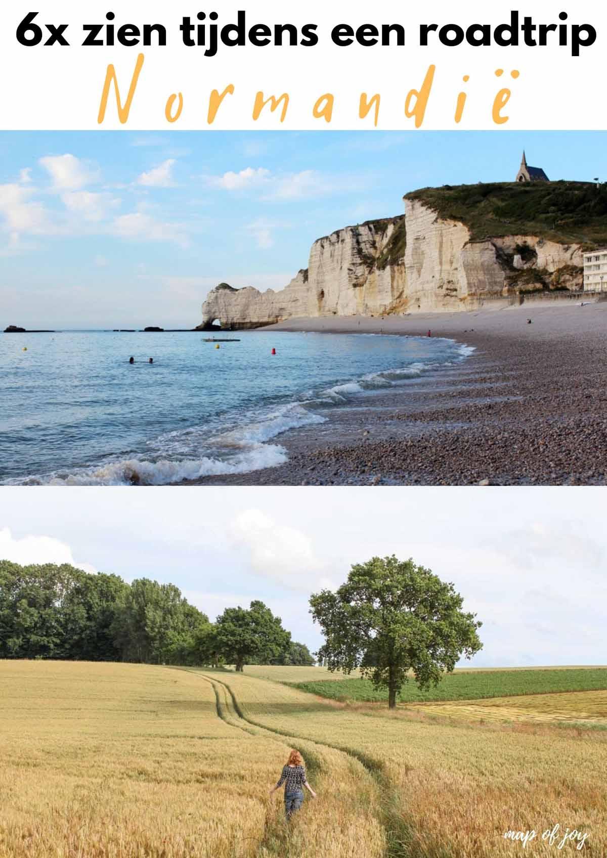 6x zien tijdens een roadtrip Normandië, Frankrijk - Map of Joy