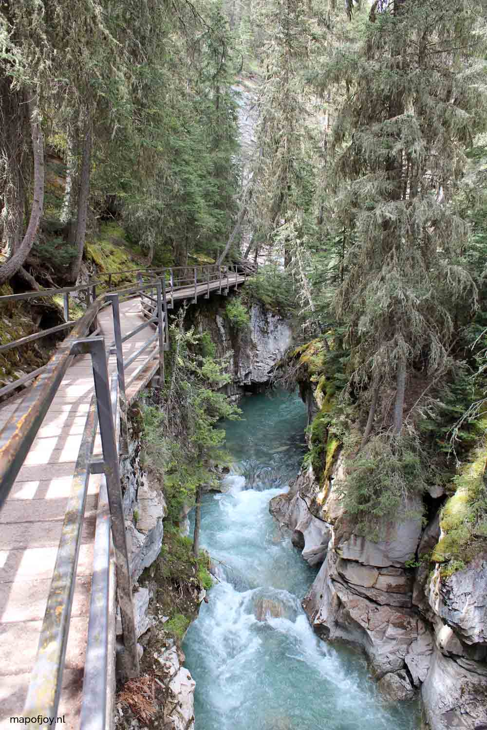 Johnston Canyon, Banff NP, Alberta, Canada - Map of Joy