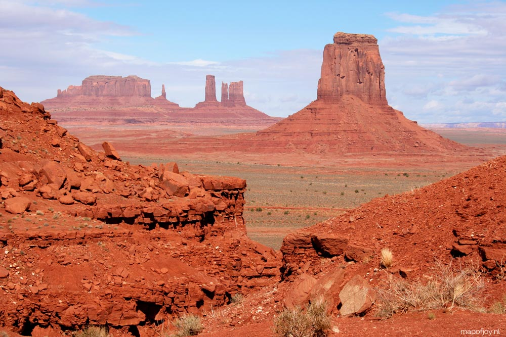 Monument Valley, West-USA - Map of Joy