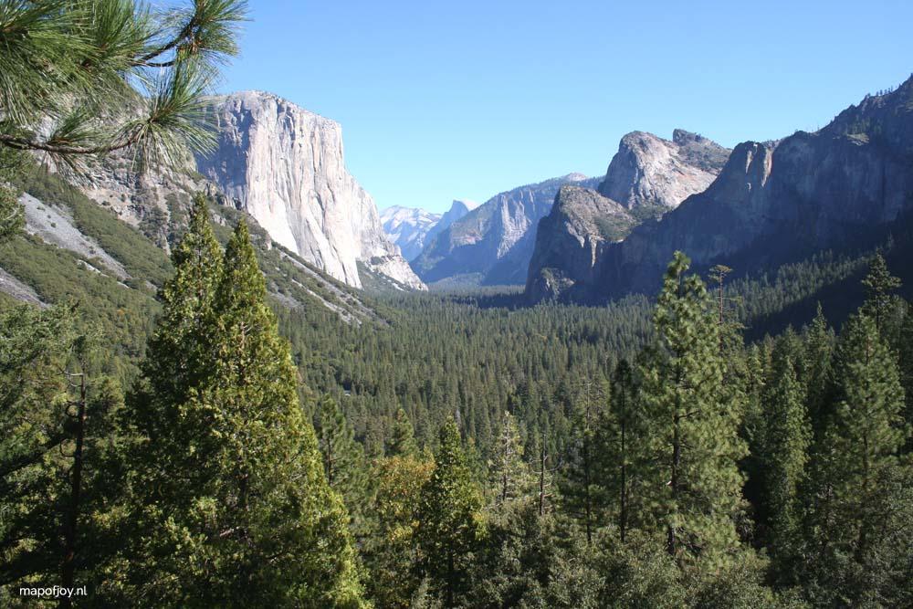 Yosemite NP, West-USA - Map of Joy