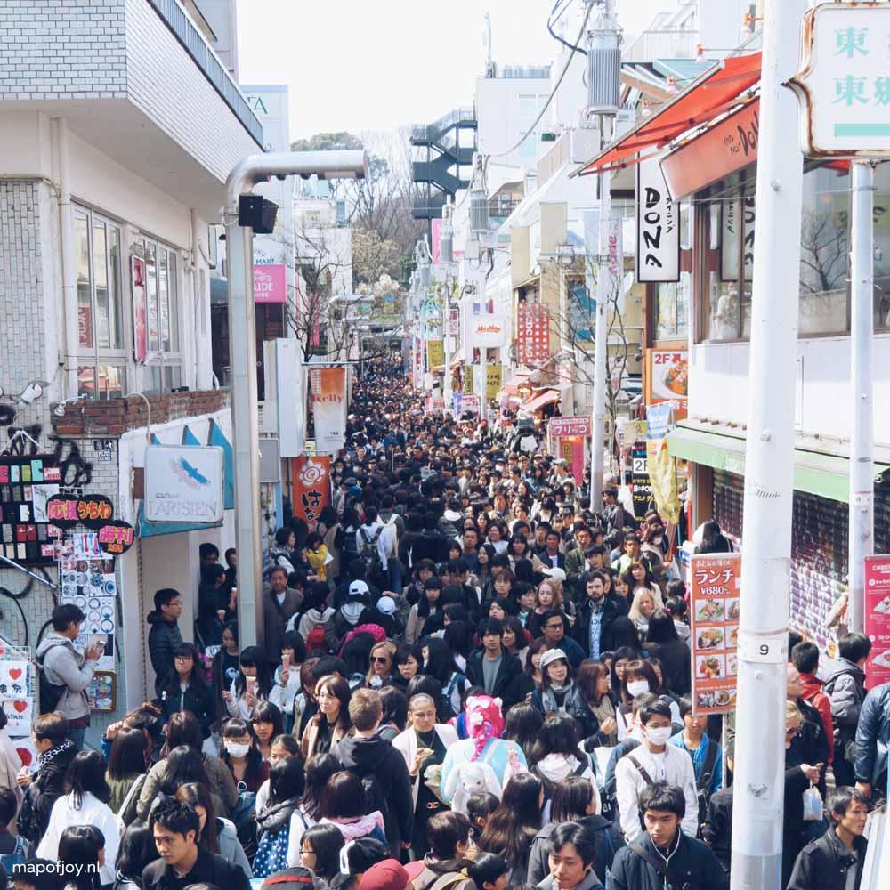 Takeshita Street, Harajuku, Tokyo, Japan - Map of Joy