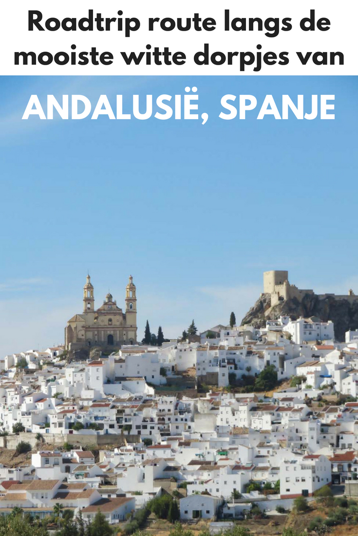 Roadtrip route langs de mooiste witte dorpen van Andalusië, Spanje - Map of Joy