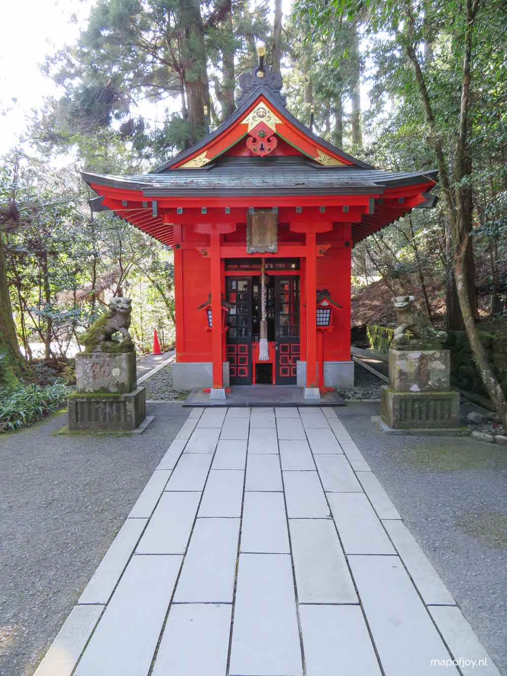 Hakone Shrine, Japan - Map of Joy