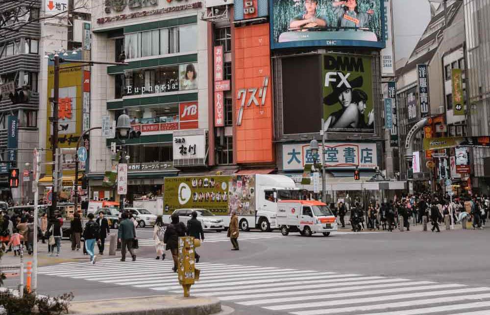 Tokyo Shibuya Crossing - Map of Joy