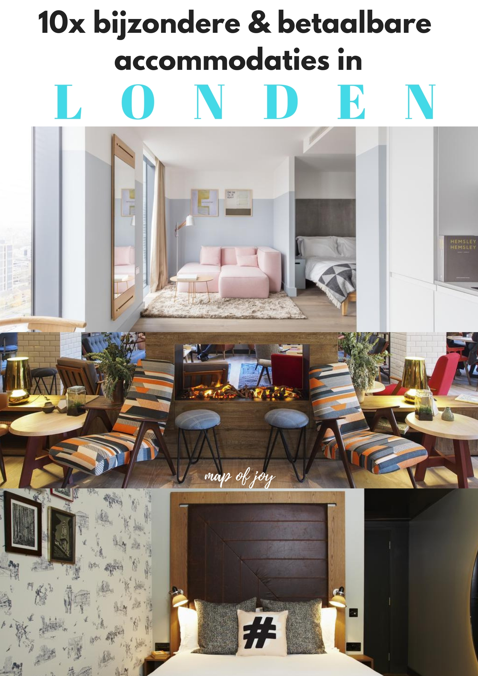 10x bijzondere en betaalbare accommodaties in Londen - Map of Joy